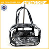 Women Handbag With Clear Pvc Cosmetic Bag