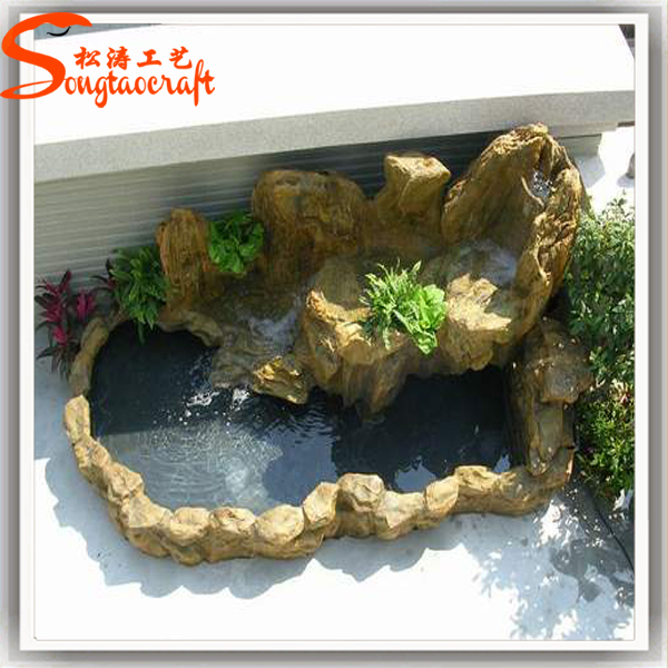 Made in china factory cheap price artificial fiberglass for Artificial fish pond