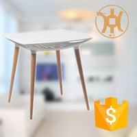 HC-N032 wooden leg plastic dining table and chair folding