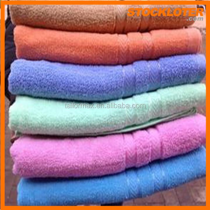 Cheap Promotional Wholesale Hotel Bath Towel Surplus Stock