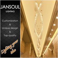 zhongshan lighting factory hanging antiq sale crystal chain chandelier wedding hall decoration centerpieces pendant lights