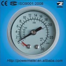 ( y40- z) 40mm aire médica de utilizar pequeñas de plástico caso de tipo de manómetro de presión