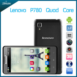 Original Lenovo P780 5.0 inch android phones MTK6589 Quad Core 1.2GHz 4000mAh battery 8.0MP Camera Dual SIM