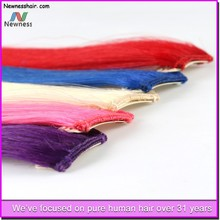 Hot Sale Products raw unprocessed Remy human hair extension nail hair extension