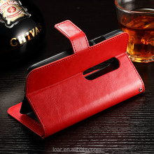 Red Black For Motorola Moto G 3 Pu Leather Wallet Case With Card Holder