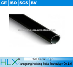 PE / ABS /ESDCoated lean pipe for pipe shelves system.PE coated lean steel Pipe from Guangdong Domgguan HLX