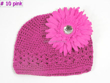 kids girl flower crochet kufi hat beanie caps