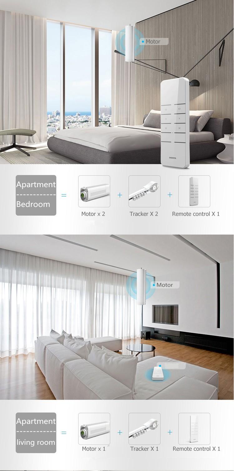 Gordijnen bedienen elektrische afstandsbediening wifi gordijn ...