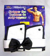 Male butler boy stripper set outfit fancy dress costume accessories kit stag night