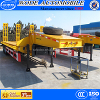semi-trialer type 3 axles low bed semi trailer