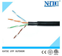Outdoor Cable UTP CAT5E with Double Jacket and PE Insulation cat5e network cable