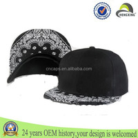 High Quality Blank Embroidery Floral Brim Snapback Hats/Caps,Promotional China Manufacturers Outdoor Sports Caps
