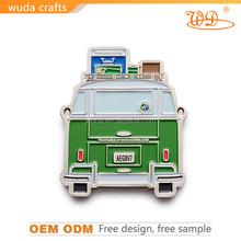 OEM service soft enamel silver plated metal car logo lapel pin