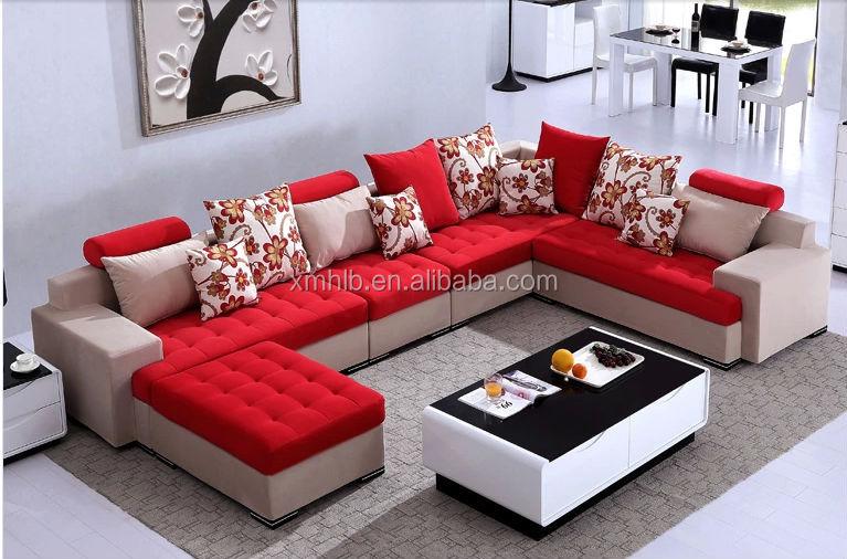 Fs504 sofa set designs new l shape sofa designs buy for Latest l shaped sofa designs
