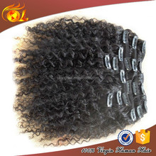 Top Quality 100% Clip in human hair afro kinky curly clip in hair extensions