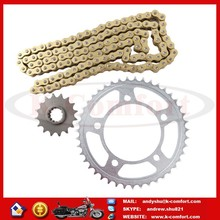 KCM461 Front Rear Chain and Sprocket Set Fit For HONDA CB 600 N 8,9,A 2008 2009 2010
