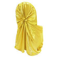 wholesale wedding stain chair cover yellow colour