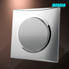 2015 New design Silver 1 gang 1way switch electrical switch British standard 10A wall switch