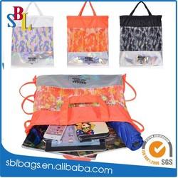 2015 nylon drawstring bag & nylon foldable shopping bag & nylon drawstring bag