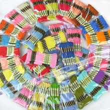8 meters/lot 100% cotton cross stitch thread with 447 colors can be choosed