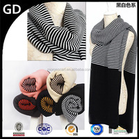 GDK0101 New Design Style Beautiful women twill and solid color knitted wraps fashion scarf