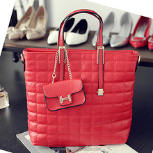 E1345 wholesale products popular designer tote ladies' bags with pursse