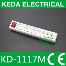 German style 2 pin / 3pin power strip / extension power plug socket