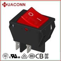 UL VDE approved 16A rocker switch 4 pin