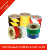 yellow and black stripe reflecive warning tape for safety with different size