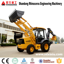 Construction machinery backhoe loader, 4wd 80hp tractor with front end loader and backhoe