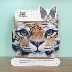 Funny gift 3d animal tiger pattern printed anti-dust breathing cotton mask