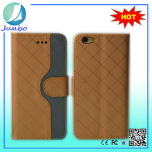 China supplier wallet design cover pu leather mobile phone leather cases for iphone 6