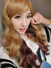 2015 Women Long Hair Wigs Body Wave Synthetic Wig 26'' Human Hairs Female Halloween Cosplay More Colors
