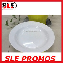 deep dish melamine plate for dinner&charge,bulk cheap white plastic plate,high quality disposable round melamine plate