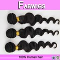 Fabwigs 8 - 30 pulgadas 7a brasileña loose body wave hair weaving