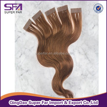 Brazilian human hair remy hair tape hair extension body wave