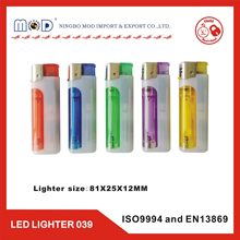 LED lighter with ISO 9994& EN 13869