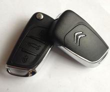 High quality custom car keys for 3 buttons original Citroen C5 key citroen c5 remote key with 433mhz id46 chip ASK