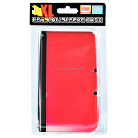 Red Project Design Hard Protective Crystal Case Cover Pouch For Nintendo New 3DS XL