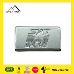 Custom aluminium label,metal label decorative nameplate with 3M self adhesive
