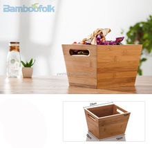 Bamboo snacks storage box with handle / Bamboo storage cases