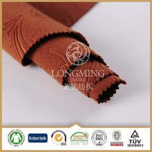 excellent textile supplier 100% polyester brush cheap fabric for winter coat / wholesale woven embossing polyester velvet fabric