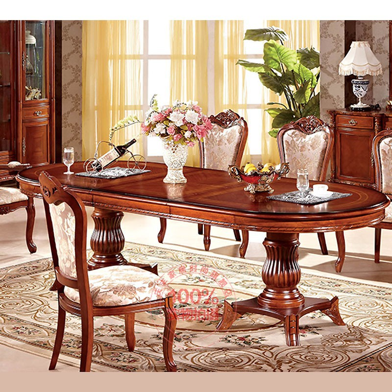 classical wooden big size dining table dining chairs home dining room