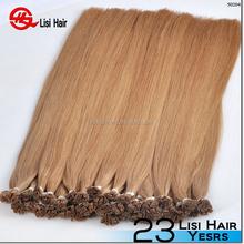 Hot Fashion 5A double drawn cold fusion single 1g white flat tip hair