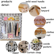 environmental protection moistureproof clothes wardrobes designs