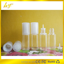 2015 hot new product unique 10ml PET e liquid bottle with clear special design tamper evident cap
