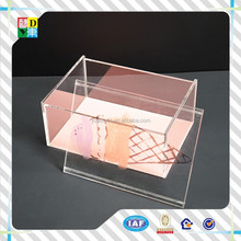 elegant design acrylic tray with insert made in shenzhen /acrylic tray with cover/fast food serving trays with lid