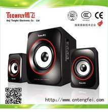 Hot sell!Techfly SR-517 poweful multimedia 2.1 channel computer speaker subwoofer 2*2030IC