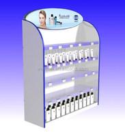 Hot acrylic shop shelf display cosmetic/cosmetic display showcase