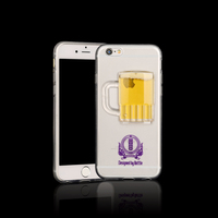 tpu Mobile Phone Case mobile phone cove liquid beer mugcase for iPhone 6/6Plus